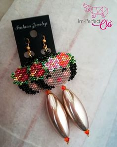 Beaded Earrings Patterns, Peyote Stitch, Brick Stitch, Crochet Dolls, Beaded Embroidery, Beadwork, Crafts For Kids, People, Diy