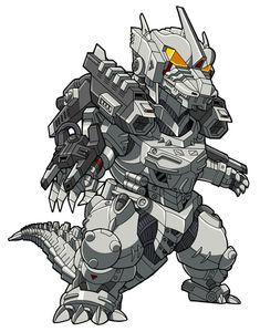 MechaGodzilla by benisuke on DeviantArt All Godzilla Monsters, Godzilla Toys, King Kong, Cthulhu, Chibi, Strange Beasts, Japanese Film, Transformers Art, Monster Art