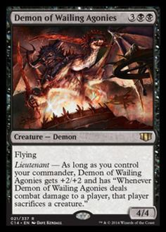 Demon-of-Wailing-Agonies-x4-Magic-the-Gathering-4x-Commander-2014-mtg-NM-lot