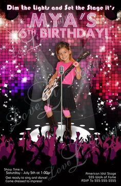 Save the Date Invites: Pop Star Diva Party | lovelidesigns - Digital Art  on ArtFire