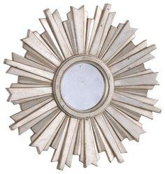 mini silver starburst mirror - traditional - mirrors - Ethan Allen