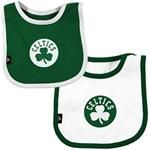 Don't leave home without one of these super cute Celtics bibs. #celtics