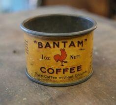 Bantam coffee tin ~ 1 ounce size ~ RARE