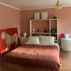 36 HOURS IN MARRAKESH, warm, earthy pink paint color by Backdrop. Best Bedroom Paint Colors, Pink Paint Colors, Interior Walls, Interior Design, Canvas Drop Cloths, Data Sheets, Painted Floors, Marrakesh, House Rooms