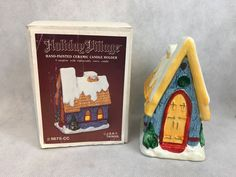 Holiday Village CHURCH Hand Painted Ceramic Candle Holder | Collectibles, Holiday & Seasonal, Christmas: Current (1991-Now) | eBay!