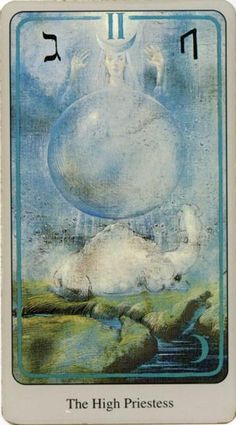The High Priestess from the Haindl Tarot