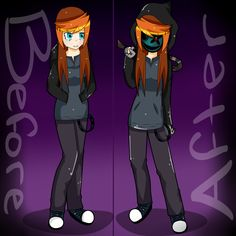 Before and After Affect - Creepypasta OC Gwen - by KiNGHeichou on DeviantArt