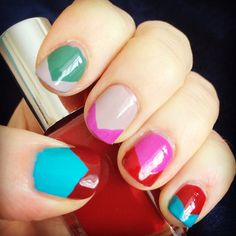 Colourful nail art #nails #nails