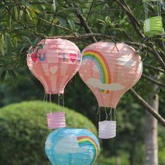 10 Pcs 14 inch 35 cm Multicolor Giấy Trung Quốc mong muốn Lantern Hot Air Balloon CHÁY SKY lồng đèn cho năm mới đồ trang trí