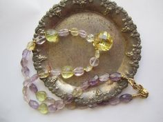 Necklace Mixed Stones ./. Citrin Amethyst by BijouxEmmElle on Etsy