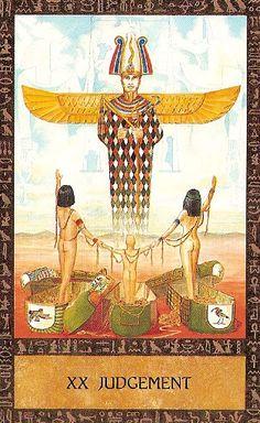 The Ancient Egyptian Tarot ► Judgement-If you love Tarot, visit me at www.WhiteRabbitTarot.com
