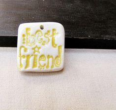 Ceramic Shard Pendant Best Friend Pottery by TravelingGypsies, $6.00