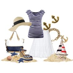 Navy Nautical, created by pjm27 on Polyvore