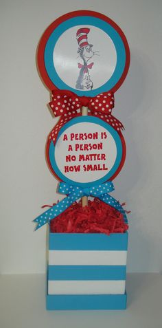 Doublesided Topiary Centerpiece Inspired by Dr. Seuss. $25.00, via Etsy.