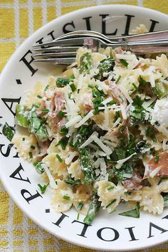 baked farfalle pasta with mushrooms peas and lemon white sauce recipe ...