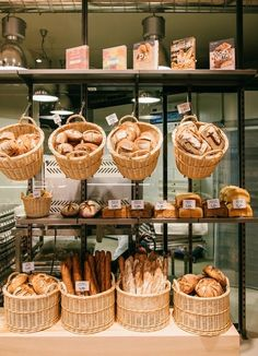Bakery cafe, bakery interior, boulangerie patisserie, bakery shop design, c Bakery Shop Design, Coffee Shop Design, Restaurant Design, Bakery Interior Design, Bakery Store, Bakery Cafe, Bread Display, Pastry Display, Bread Shop