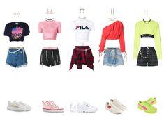 Korean Fashion Kpop Inspired Outfits, Kpop Fashion Outfits, Korean Outfits, Scene Outfits, Grunge Outfits, Dance Outfits, Kpop Girl Groups, Kpop Girls, Mode Chanel