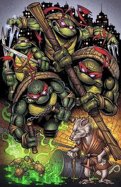 "$7.99 AUD - 111 The Teenage Mutant Ninja Turtles - Tmnt Anime Art 14""X22"" Poster #ebay #Collectibles"
