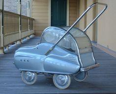 Vintage Italian GIORDANI baby carriage pram 1950's