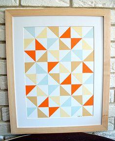 handmade not a print original modern patterns by StudioSuzanna, $90.00