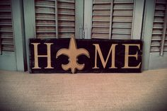 New Orleans Saints Home Sign, Louisiana, NFL inspired, Rustic Home, Country Chic, Dorm/Apartment/Home Decor, Shabby Chic, Man Cave, Cajun