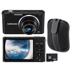 Câmera Samsung ST77 Preta c/ 16.1MP, por apenas R$379,00