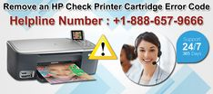 Fix an HP check printer cartridge error code with the help of certified technicians to continue printing. Dial HP printer support phone number +1-888-657-9666 to directly connect with our experts. We are available 24/7 to help customers to resolve HP printer issues.