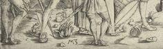 1500 Monogrammist MZ - The Four Soldiers (De vier soldaten)  DETAIL showing shoes.