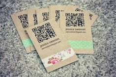 DIY Business Card - I love the idea of adding a QR icon with a link to our website.