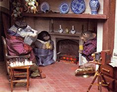Badger, Rat and Mole - The Wind in the Willows Movie - 1983