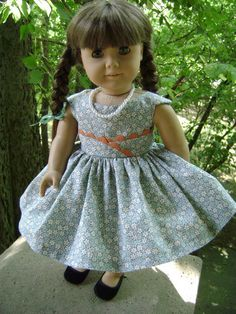 American Girl Doll Clothes - Custom Couture Fashionable Fifties Dress and More for 18 Inch Fashion Dolls One of Kind Item
