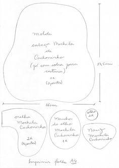 Segredos de Aline: Mochila Infantil Patchwork - Cachorrinho - Bolsa de Tecido - Passo a Passo