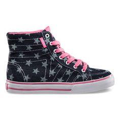 45.  Kids Chambray Dots Corrie Hi   Shop Girls Shoes at Vans