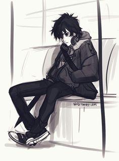 Nico di Angelo by Viria @ tumblr.   I just want to give him a hug.