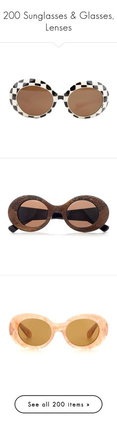 """200 Sunglasses & Glasses, Lenses"" by lorika-borika on Polyvore featuring accessories, eyewear, sunglasses, glasses, headwear, white, vintage sunglasses, adjustable lens glasses, white and black sunglasses и white lens sunglasses"