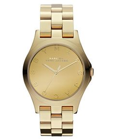 Marc by Marc Jacobs Watch, Women's Gold Ion-Plated Stainless Steel Bracelet 36mm MBM3211