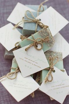 Beautiful Soaps as Wedding Favors