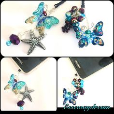 """Mi piace"": 69, commenti: 1 - essewaydream creation (@essewaydream) su Instagram: ""Jack plug stopper antidust butterfly #crystalparadise #crystal #resinjewelry #resin #pendant…"""