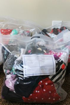 I love this inexpensive and super organized method of storing hand-me-downs! Photo Pin, Disney And More, Kids Hands, Best Mom, Baby Kids, Baby Boy, Declutter, Dollar Stores, Bag Storage