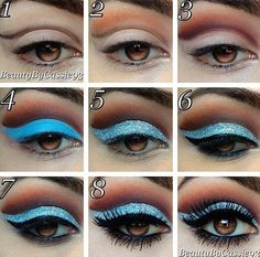 Eye makeup for the stage