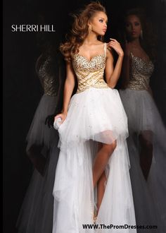 Short White And Gold Prom Dresses White gold prom dresses ...