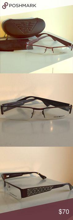 7fd47dbd02e8 NEW Giorgio Armani Eyeglass Frame w case   cloth