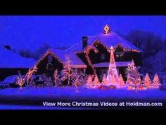 Still my favorite Christmas light show!  Holdman Christmas Lights Amazing Grace Techno YouTube - YouTube