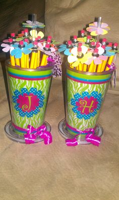 Teacher appreciation gift - love these - have to find similar cups - too cute!