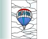 Hot air balloon 1 hot air balloon stained glass pattern []It's Free! | PDQ Patterns