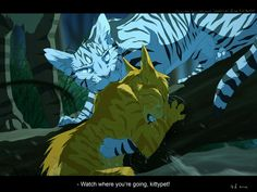 "Longtail saves Fireheart... ""You wen't to close, Tigerclaw!"""