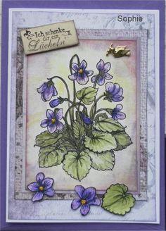 Sophie's Art: Veilchen-Grüße oder Violet-Greet