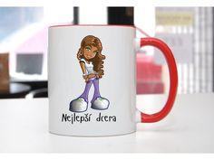 Hrnek Nejlepší dcera S registrací sleva - POTISKNUTO Mugs, Tableware, Dinnerware, Tumblers, Tablewares, Mug, Dishes, Place Settings, Cups