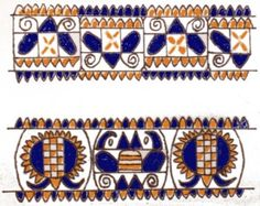 Pattern from Puchovo, Slovakia Folk Embroidery, Bobbin Lace, New Art, Needlework, Embellishments, Arts And Crafts, Textiles, Symbols, Czech Republic