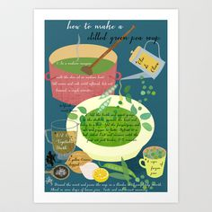chilled pea soup Art Print by Elisandra